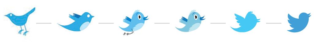 Evolución logo de Twitter