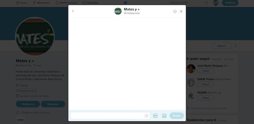 Mensajes directos en Twitter